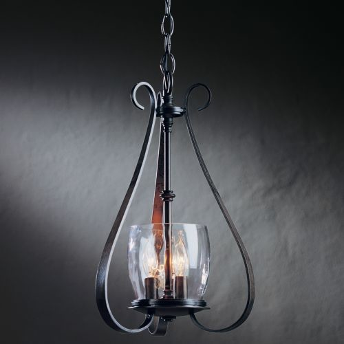 Hubbardton Forge Sweeping Taper: Sweeping Taper Three Arms And Candle Cluster Chandelier By