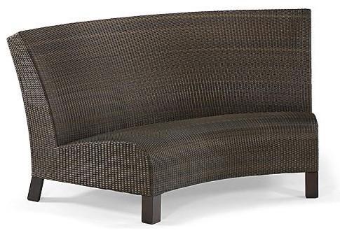 Del Mar Center Curved Sofa Frontgate Contemporary