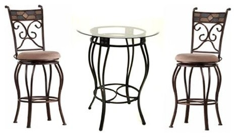 Boraam Counter Height Beau Pub Table Set contemporary-indoor-pub-and-bistro-tables