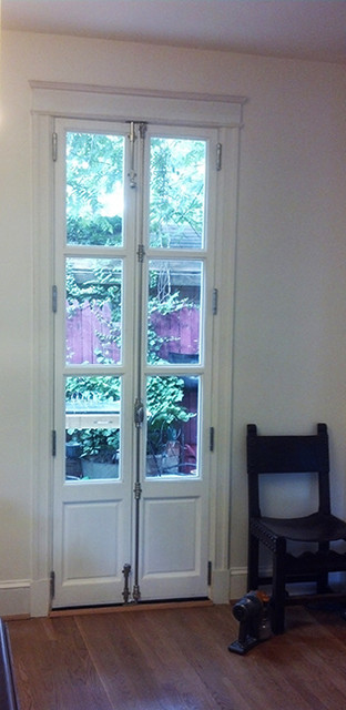 Skinny French Doors! traditional