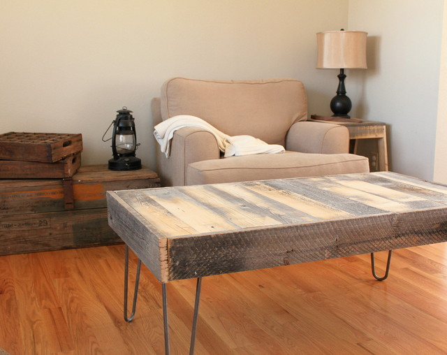 Reclaimed Wood Coffee Table modern-coffee-tables
