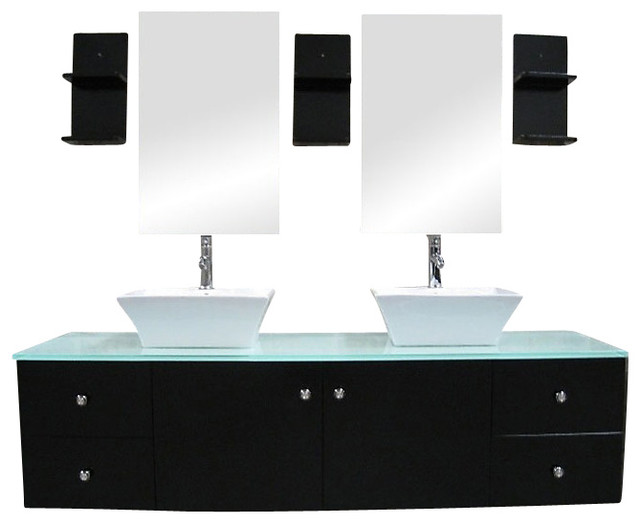 Double Wall Mount Sink : All Products / Storage & Organization / Storage Furniture / Bathroom ...