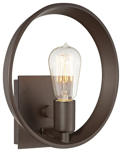 "Contemporary Quoizel Uptown Theater Row 10"" Wide Bronze Wall Sconce contemporary-wall-lighting"