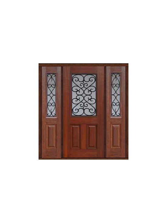 "Prehung Sidelights Door 80 Fiberglass Palermo 1/2 Lite GBG Glass - SKU#    MCT012WP_DFHPG1-2Brand    GlassCraftDoor Type    ExteriorManufacturer Collection    1/2 Lite Entry DoorsDoor Model    PalermoDoor Material    FiberglassWoodgrain    Veneer    Price    3780Door Size Options    32"" + 2( 14"")[5'-0""]  $032"" + 2( 12"")[4'-8""]  $036"" + 2( 14"")[5'-4""]  $036"" + 2( 12"")[5'-0""]  $0Core Type    Door Style    Door Lite Style    1/2 LiteDoor Panel Style    2 PanelHome Style Matching    Door Construction    Prehanging Options    PrehungPrehung Configuration    Door with Two SidelitesDoor Thickness (Inches)    1.75Glass Thickness (Inches)    Glass Type    Double GlazedGlass Caming    Glass Features    Tempered glassGlass Style    Glass Texture    Glass Obscurity    Door Features    Door Approvals    Energy Star , TCEQ , Wind-load Rated , AMD , NFRC-IG , IRC , NFRC-Safety GlassDoor Finishes    Door Accessories    Weight (lbs)    527Crating Size    25"" (w)x 108"" (l)x 52"" (h)Lead Time    Slab Doors: 7 Business DaysPrehung:14 Business DaysPrefinished, PreHung:21 Business DaysWarranty    Five (5) years limited warranty for the Fiberglass FinishThree (3) years limited warranty for MasterGrain Door Panel"