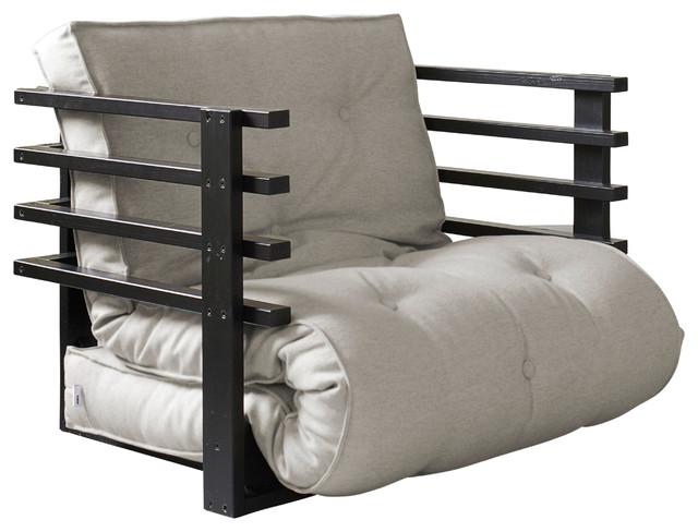 Fresh Futon Funk Convertible Futon Chair Bed Black Frame