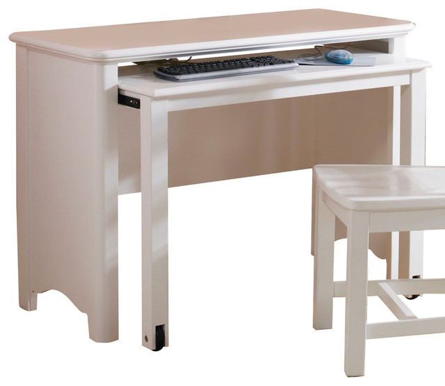 Lea Haley Drawer Desk in White traditional-baby-and-kids