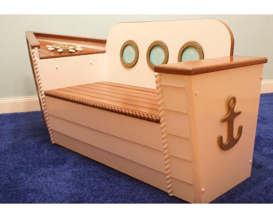 Nautical Toy Box/Bench by Adamz Originals -