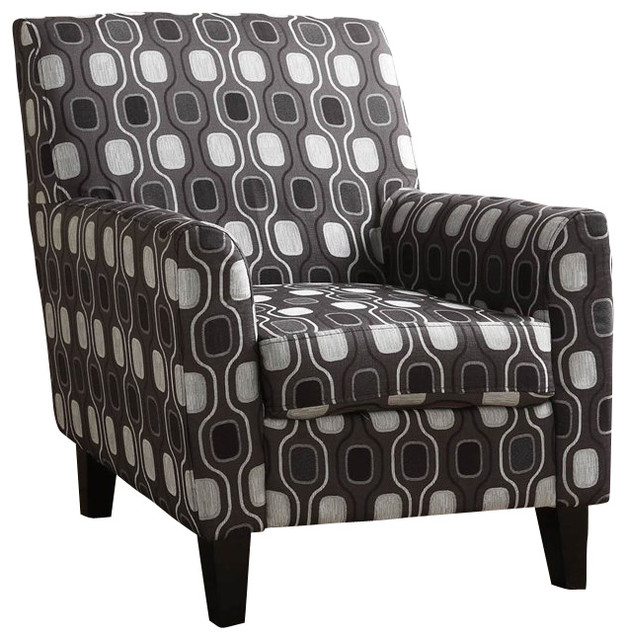 Armen Living Fiesta Gray Circles Fabric Club Chair midcentury-armchairs-and-accent-chairs