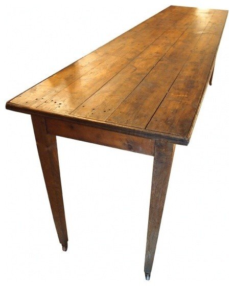 Oak Wine Cellar Table On Wheels Farmhouse Indoor Pub And Bistro Tables