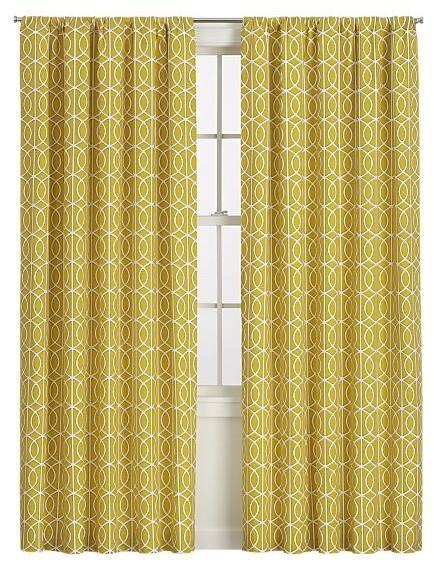 Bella Porte Citrine Curtain Panel contemporary-curtains