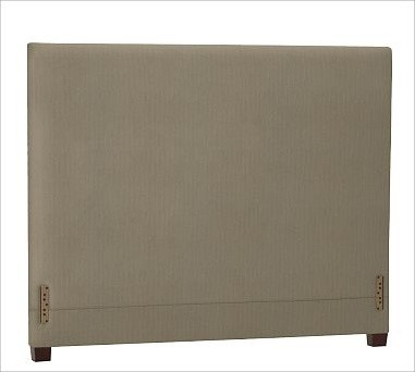 Raleigh Square Headboard, Cal. King, Twill Seagrass traditional-headboards