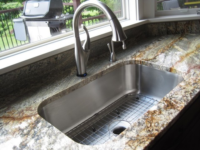 from the counter into your sink the caulk is eliminated from view giving your kitchen a clean seamless look while maximizing your counter space - Single Or Double Kitchen Sink