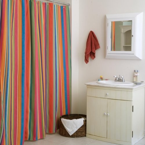 Le Jardin Stripe Shower Curtain Contemporary Shower Curtains By Hayneedle