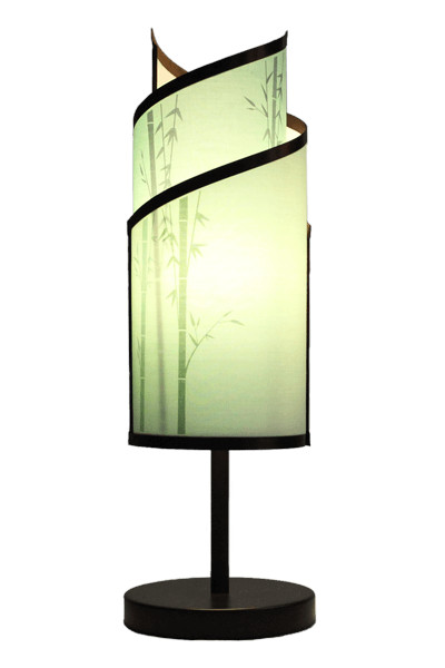 KLADIS: Interchangeable shades in seconds, Bamboo Garden, Printed Designs modern-table-lamps