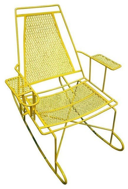 Pre owned Vintage Metal Outdoor Rocking Chair Contemporary Rocking Chairs