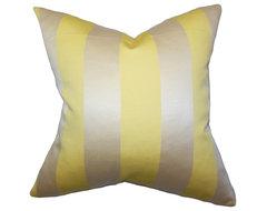 Gracen Stripes Pillow Yellow traditional-pillows