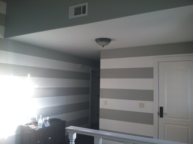 Painting horizontal lines or stripes on the interior for Painting lines on walls