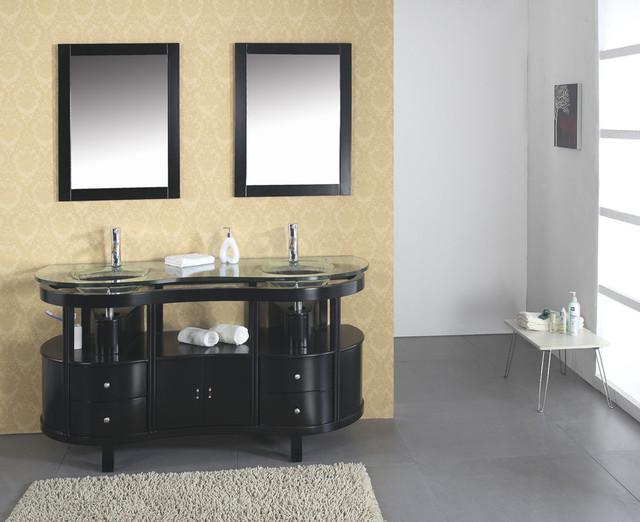 Glass Bathroom Vanities contemporary