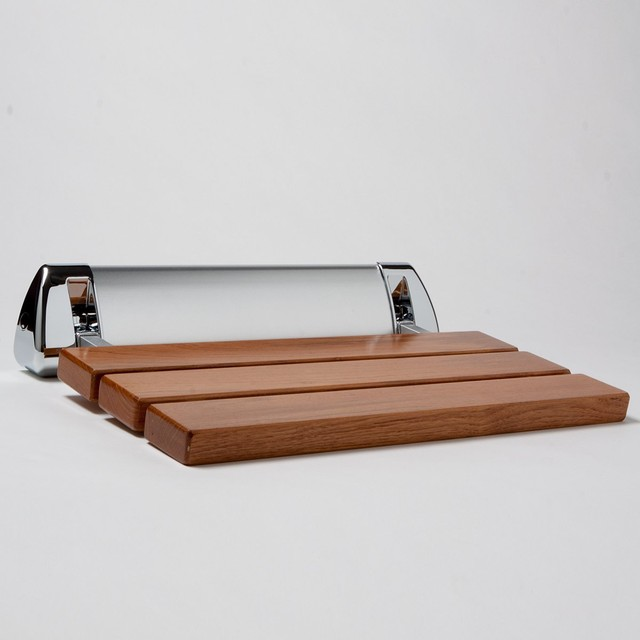 Amerec Steam Shower Seat, Teak - Modern - Shower Benches & Seats ...