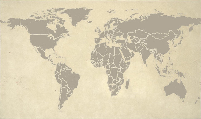 World Map eclectic-rugs