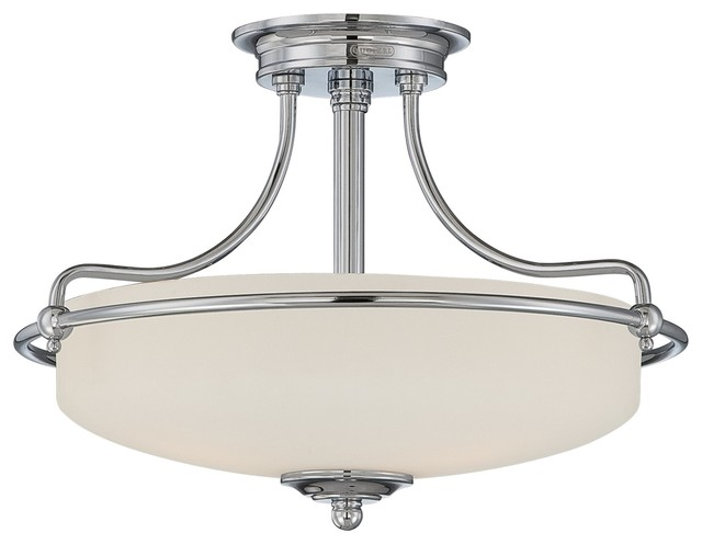Quoizel gf1717c griffin transitional semi flush mount for Semi flush mount lighting modern