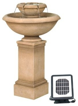 Solar 2-Tier Fountain modern-outdoor-fountains-and-ponds
