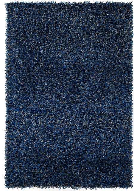 "Contemporary Zara 5'x7'6"" Rectangle Dark Blue-Blue Area Rug contemporary-rugs"