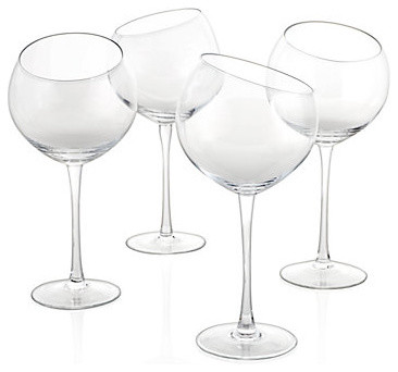 Slant Glasses - Set of 4 modern glassware