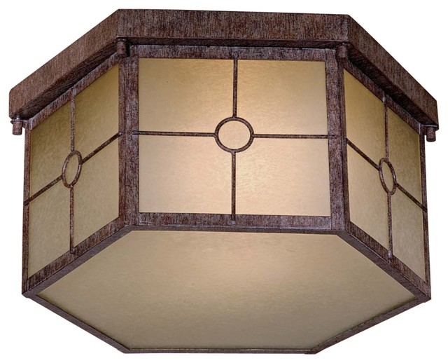 Country - Cottage Taylor Vintage Rust Fluorescent  Outdoor Lighting Fixture traditional-outdoor-lighting