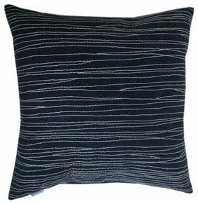 Bholu Ziddi Cushion - Charcoal/Taupe modern-decorative-pillows
