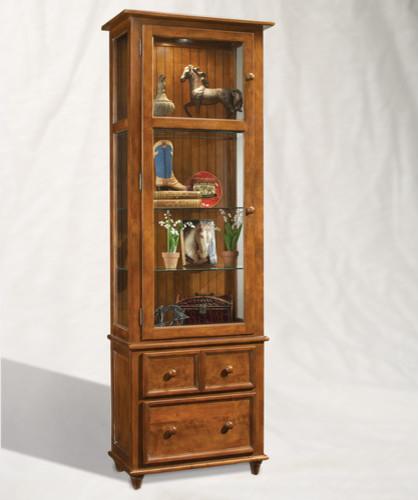 ColorTime Vista Curio Cabinet - Modern - Kitchen Cabinets - by Wayfair