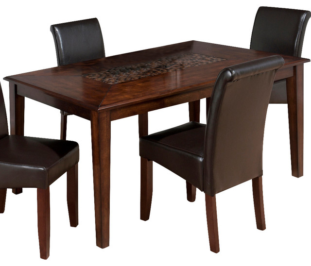 jofran baroque rectangle dining table with fixed top and