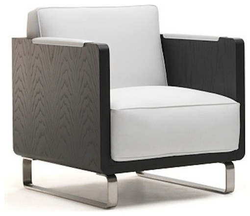 Kubo Lounge Chair, Off - White - 61104gs, Black contemporary-living-room-chairs