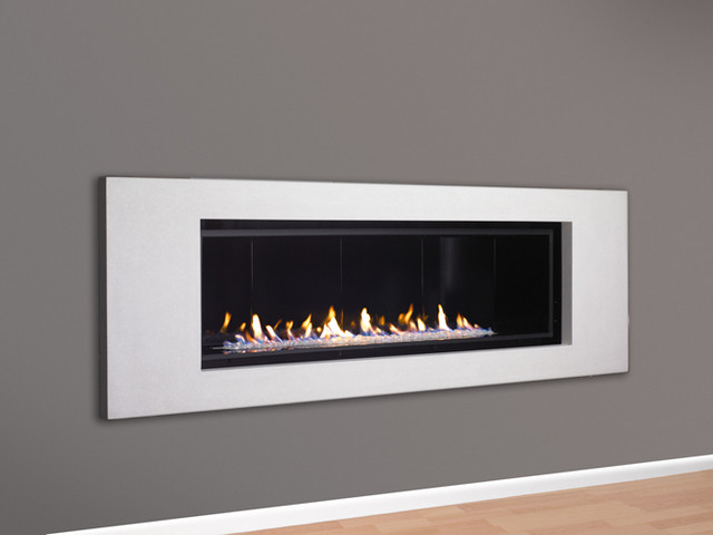 Halcyon linear direct vent fireplace contemporary for Linear fireplace ideas