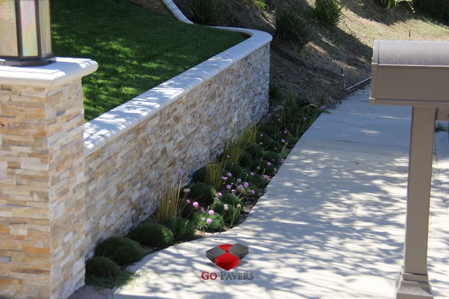 Raised-Patio-Standing-Wall-Fountain-Patios-Walkways-Driveway-Steps-Walls-Pergola traditional-patio