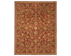 Hand-tufted Heirloom Red Wool Rug traditional rugs