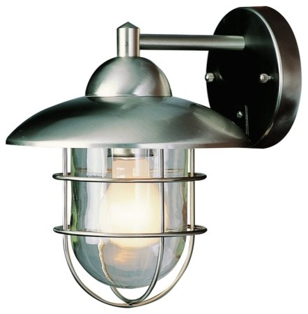 Exterior Wall Sconces Lowes : Bel Air Lighting Stainless Steel Outdoor Wall Light Lowes ...
