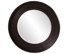 www.essentialsinside.com: allan round framed wall mirror contemporary-mirrors