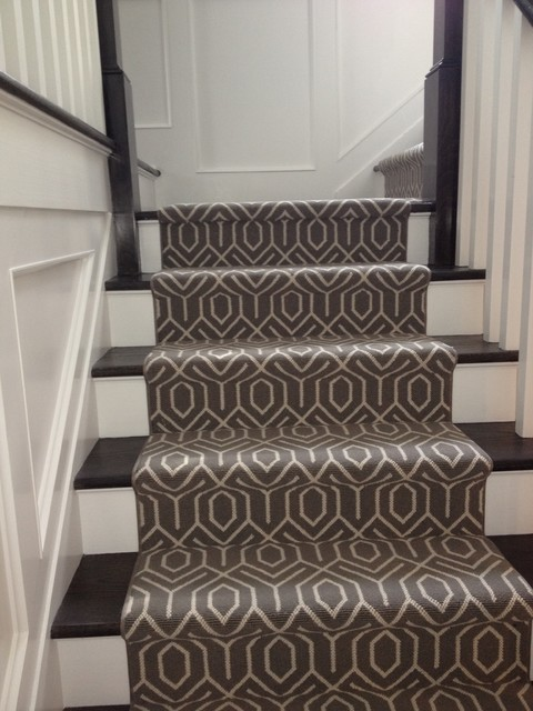 Geometric Stair Runner Modern New York By Michelle