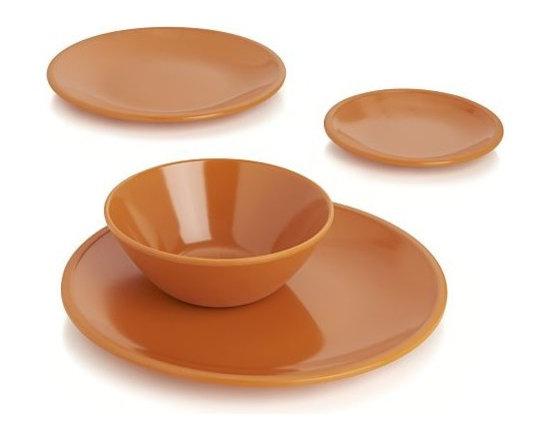 Lunea Melamine Orange Dinnerware -