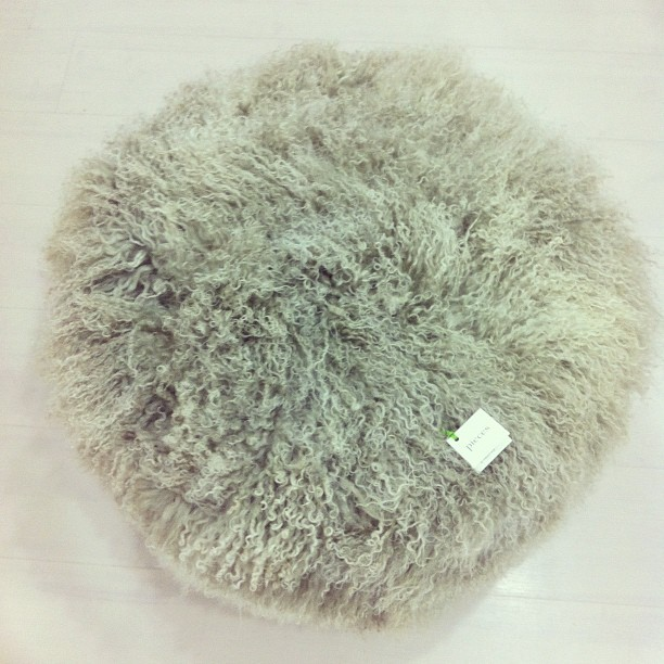 Furry Ottoman modern-footstools-and-ottomans