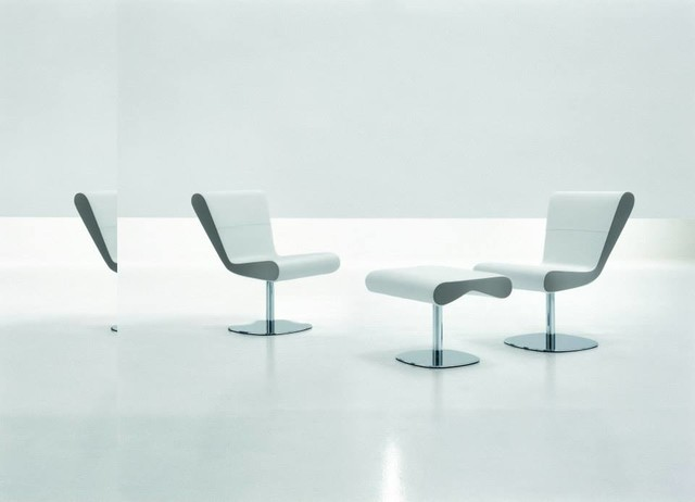 KANDOR Swivel Chair and Ottoman Leather modern-chairs