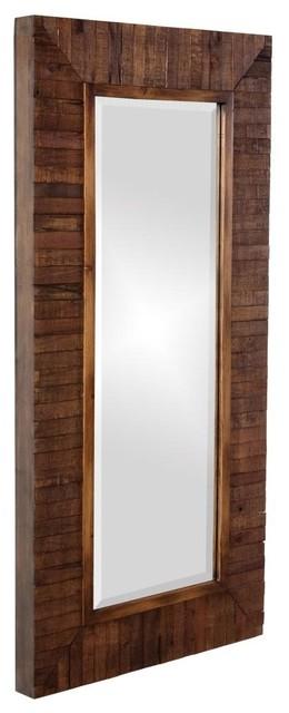 Wall Framed Mirror Solid Wood Walnut Contemporary Bathroom Mirrors Kitchen Design Ideas