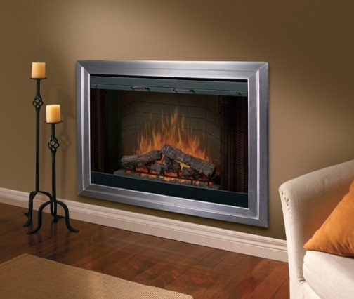 Dimplex 45 Inch Purifire Built In Electric Fireplace Bf45dxp Traditional Indoor Fireplaces