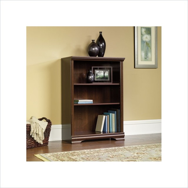 Sauder Carolina Estate 3-Shelf Bookcase in Select Cherry - Transitional - Bookcases Cabinets And ...