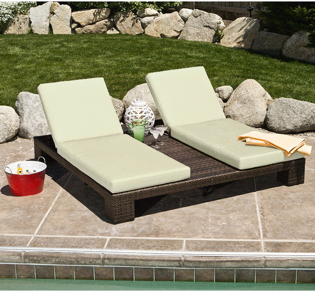 Palms Double Chaise Lounge Contemporary Outdoor Chaise Lounges By Overs