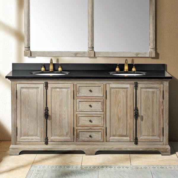 Sink Console Weathered Oak Homes Decoration Tips