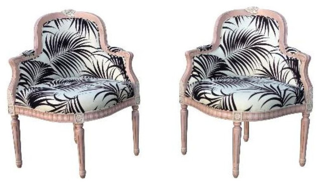 SOLD OUT! Wit meets Whimsy from Marsh & Clark - $1,000 on Chairish.com tropical-armchairs-and-accent-chairs