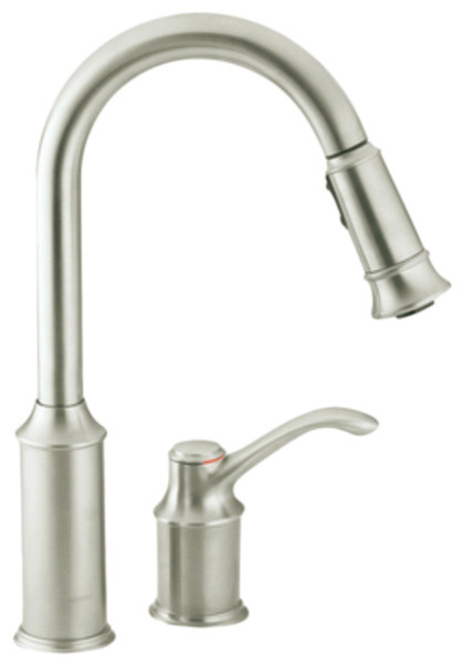 moen 7590csl aberdeen high arc single handle kitchen