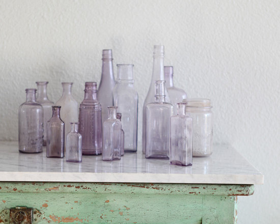 Antique Lavender Bottles - Antique Lavender bottles.Let us choose one for you.This is a listing for one lavender bottle.